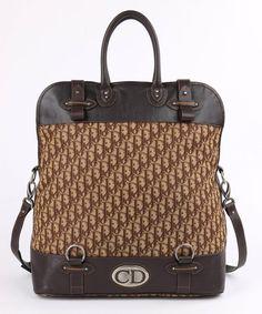 Dior Brown Monogram Canvas & Leather Weekender Travel Bag Luggage Tote FFwB4zFqg