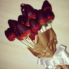 TOOOP demais esse buque de morangos #amor #love #eat #food #strawberry