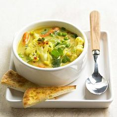 Only 20 minutes to make this Curried Vegetable Soup!
