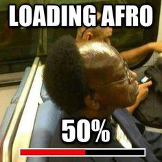 Coupe afro chargée à 50%....