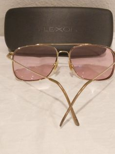 9f8c693812bd Marchon Flexon Aviator Eyeglass Frames Gold-plated 59-16-145