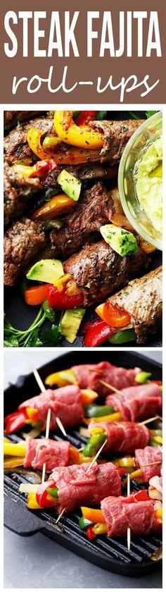 STEAK FAJITA ROLL-UPS | Food And Cake Recipes