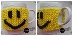 Coffee Sleeve Smiley gemaakt door Liesbeth