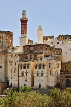 Jibla, a town in southwestern Yemen. UNESCO World Heritage site.