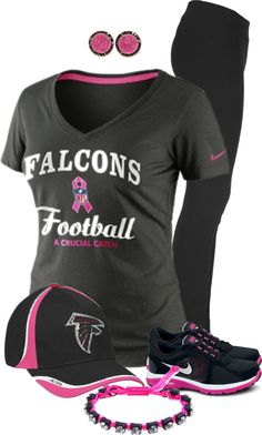 """Atlanta Falcons Hat- My Team!"" by natasha-gayden ❤ liked on Polyvore"