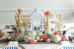 Gorgeous DIY Nautical Wedding Table