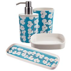 Buy John Lewis Wallflower Bathroom Accessories Online at johnlewis.com