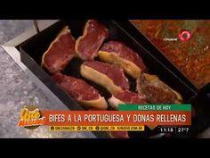 Receta de hoy: Bifes a la portuguesa y milanesas de papa Milanesa, Portuguese Food, Portuguese Recipes, Chorizo, Mozzarella, Ariel Rodriguez Palacios, Relleno, Sausage, Beef