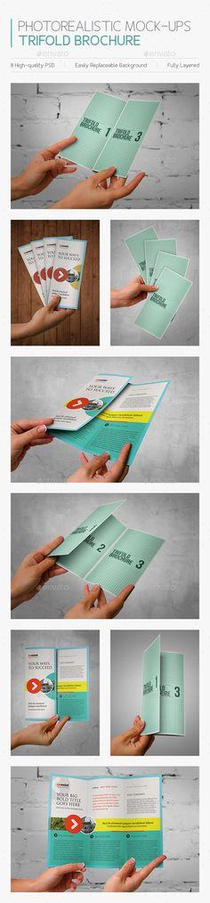 Photorealistic Mock-ups Brochures #brochuremockup #mockup Download: http://graphicriver.net/item/photorealistic-mockups-brochures/6341583?ref=ksioks