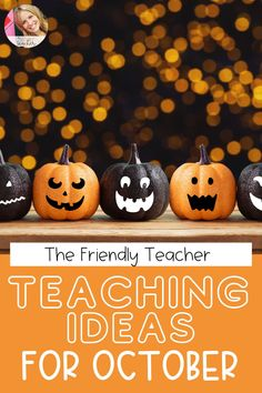 October teaching activities for 3rd and 4th grade classrooms. Have fun in the classroom this fall with these fun teaching ideas for Halloween, and the entire month of October! Great activities for distance learning or live teaching. #fallintheclassroom