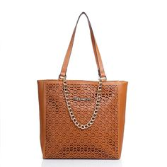 Michael Kors Outlet Harper Perforated Logo Medium Tan Totes -Michael Kors factory outlet online sale now up to 80% off!