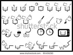 icons of cooking instruction by jennyz, via ShutterStock