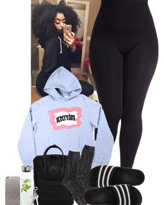 A fashion look from October 2016 featuring American Eagle Outfitters socks, adidas sandals and Fjällräven backpacks. Browse and shop related looks. Cute Lazy Outfits, Cute Swag Outfits, Chill Outfits, Dope Outfits, Teen Fashion Outfits, Simple Outfits, Look Fashion, Pink Outfits, Womens Fashion