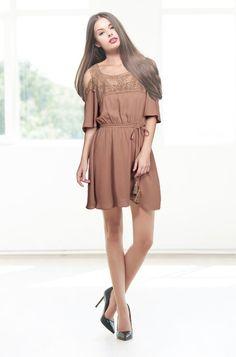 A-Line Mini Dress with Lace Detail by Umgee USA