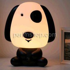 Nachrlampe, Kunststoff mit Glas, Hund, LED, gemischte Farben, 250x190x190mm