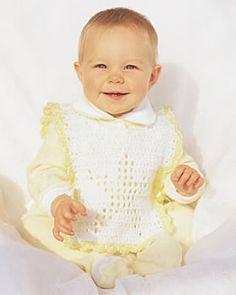 crochet star baby bib free pattern