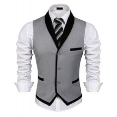Men's Clothing, Suits & Sport Coats, Men's V-Neck Sleeveless Slim Fit Vest-Jacke. Men's Clothing, Suits & Sport Coats, Men's V-Neck Sleeveless Slim Fit Vest-Jacket Business Suit Dress Vest - Grey - Wedding Vest, Casual Mode, Mens Suit Vest, Men Dress, Dress Vest, Vest Coat, Sleeveless Jacket, Coat Dress, Designer Suits For Men