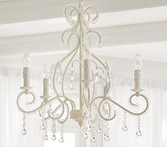 White Lydia Chandelier | Pottery Barn Kids