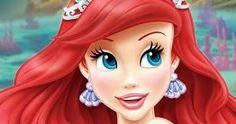 Invitación tipo ticketmaster con el tema de la Princesa Ariel, personaje de la película La Sirenita de Disney