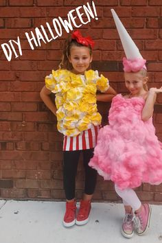Cotton Candy Halloween Costume, Popcorn Costume, Halloween Costumes To Make, Halloween Outfits, Halloween Night, Cotton Candy Costumes, Halloween Stuff, Food Costumes For Kids, Diy Couples Costumes