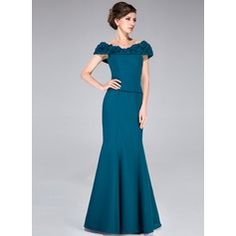 Trumpet/Mermaid Off-the-Shoulder Floor-Length Chiffon Mother of the Bride Dress With Ruffle