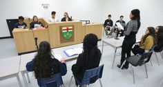 picture of Centennial College Court Support Services program students in class at a mock trial Centennial College, Service Program, Trials, Students, School, News