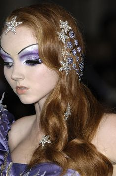 Lily Cole, love the jewels in the hair