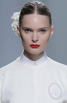 Maquillaje en la pasarela de DaviDelfin