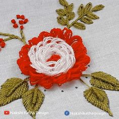 Hand Embroidery Flower Designs, Hand Embroidery Videos, Embroidery Stitches Tutorial, Creative Embroidery, Embroidery Kits, Tambour Beading, Couture, Crafts, Hand Embroidery Patterns