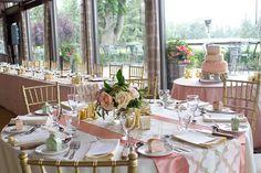 elegant coral and gold wedding centrepiece edmonton wedding persian wedding