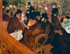 """Henri de Toulouse-Lautrec, """"At the Moulin Rouge"""""""