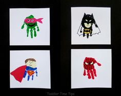 Handprint superheros