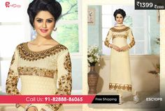 #Georgette #Suit #Cream for just Rs 1399/-Shop now @ http://enasasta.com/deal/fantastic-georgette-cream-suit Cash on Delivery at available (Rs99 extra) || Shipping Free Call or Whatsapp @08288886065