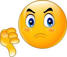 Cartoon dislike emoticon vector image on VectorStock Funny Emoji Faces, Emoticon Faces, Cute Emoji, Symbols Emoticons, Funny Emoticons, Emoticon Feliz, Stickers Emojis, Images Emoji, Animation