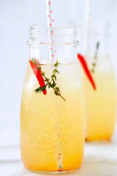 Lemon and lime energy tonic