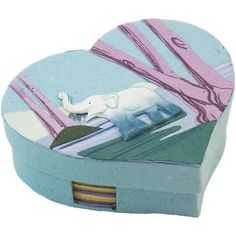 Ellie Pooh Heart Shaped Note Boxes  Mr. Ellie Pooh makes is an eco-friendly, fair-trade selection of exotic gifts and paper made partially out of elephant poo!  Elephants in Sri Lanka are being killed at an alarming rate. Help save the Elephants!