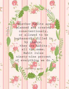 Charlotte Mason quote on habit building