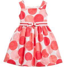 Mayoral Coral Pink Cotton Dress with Belt at Childrensalon.com