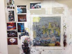 Mark Bosley's studio at 2014 studio open day...