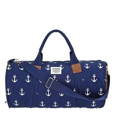 Look at this #zulilyfind! Navy Anchor Duffel Bag #zulilyfinds