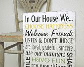 in our house sign