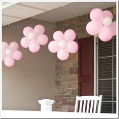 cute flower balloons.  showers or any other color for other occasions.