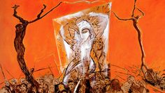 Salvador (2006) : oil on canvas, tryptic / huile sur toile, tryptique / olio su tela, trittico, 195x342cm ©RobertoMangú #oil #painting #art #Mangu