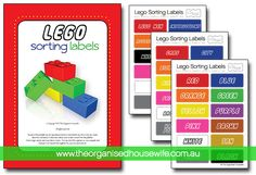 Lego Sorting and Organising Labels