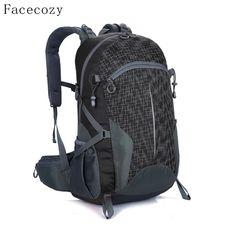 c20630a57b Facecozy Outdoor Hunting Travel Waterproof Backpack Men Women  Camping Hiking Backpacks Big Capacity 40L Sports Bag Cycling Backpack