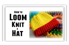 LOOM KNITTING Hat for All Sizes, Step by Step for BEGINNERS, Make Brim, ...