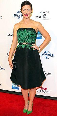 Emily Blunt in green loveliness.