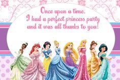 FREE Disney Princess Invitation and Thank You Card | MySunWillShine.com