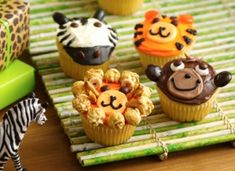 Zoo/Jungle Animal Birthday Cupcakes