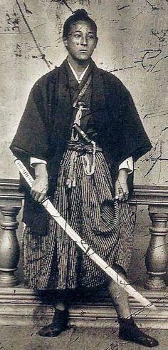 Samurai with katana.